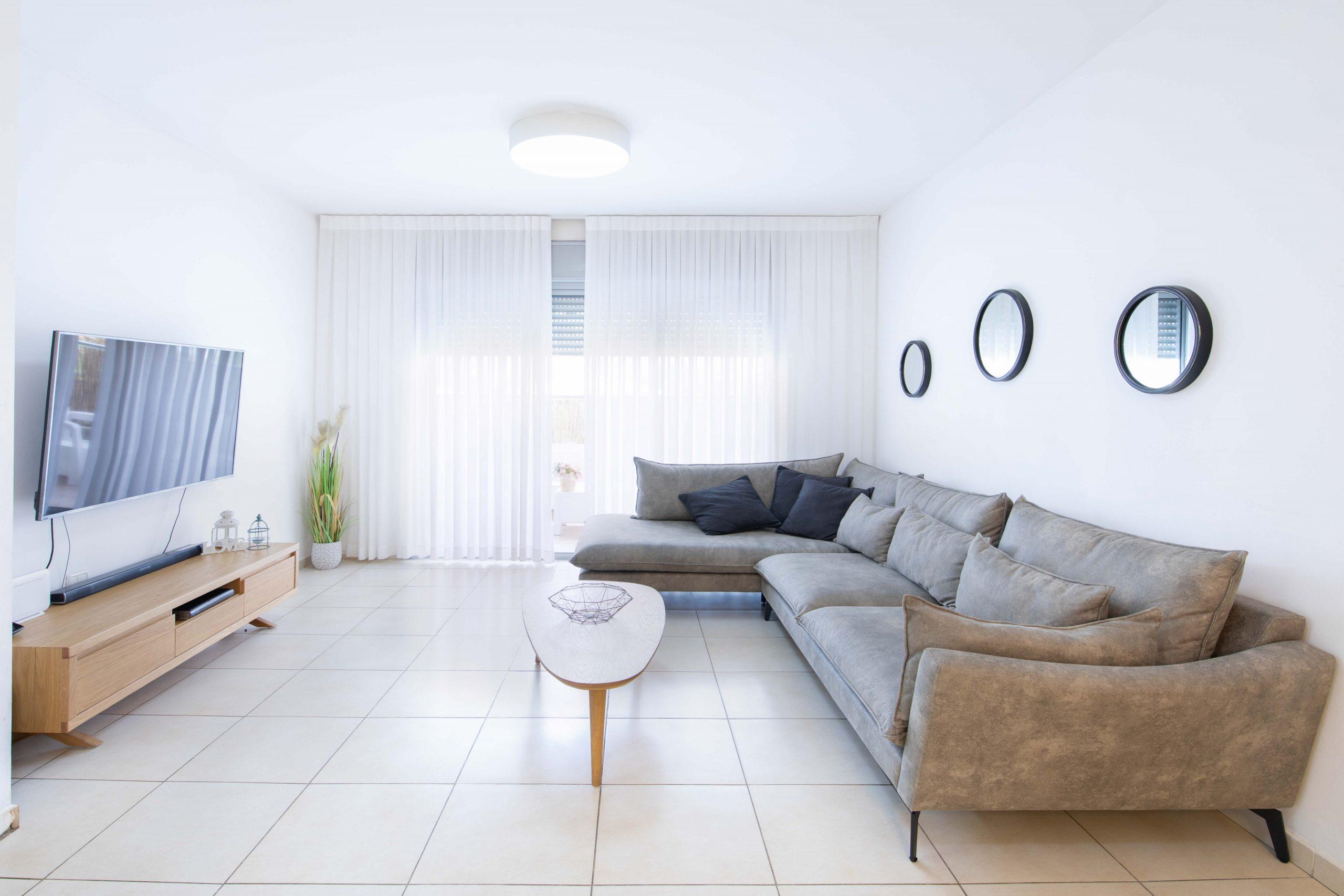 סלון דירה 4.5 חדרים בשכונת פארק המושבה