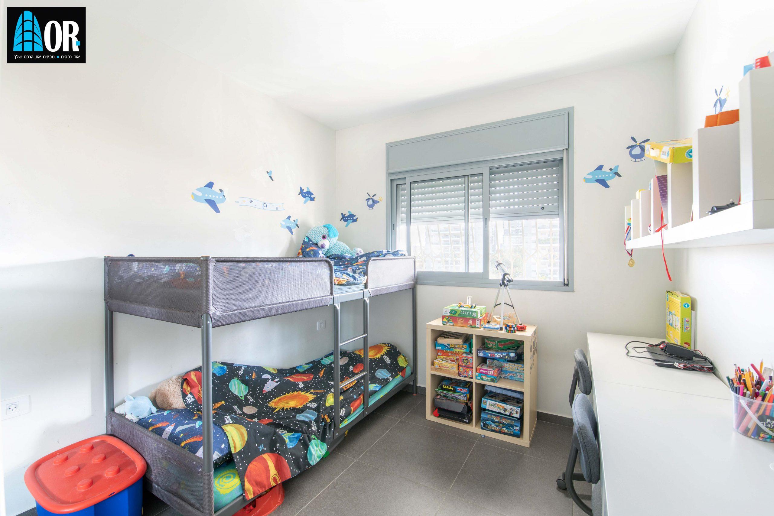 חדר ילדים דירה 5 חדרים, שכונה צמרות
