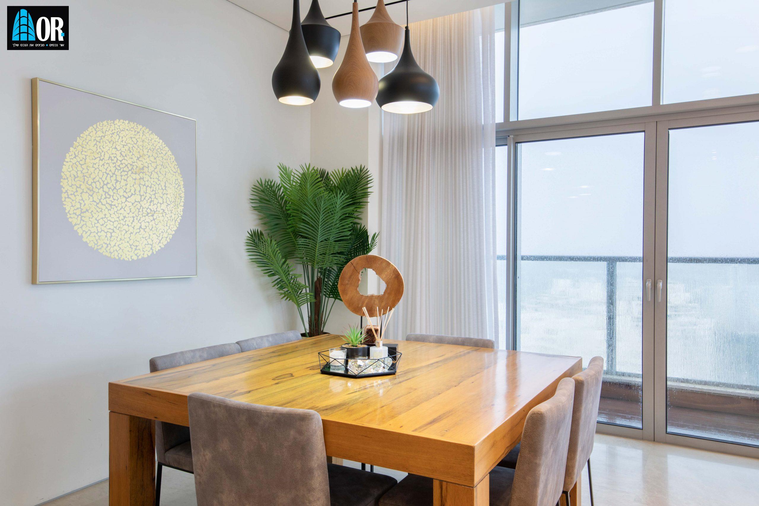 פינת אוכל פנטהאוז 6 חדרים שכונה פארק המושבה