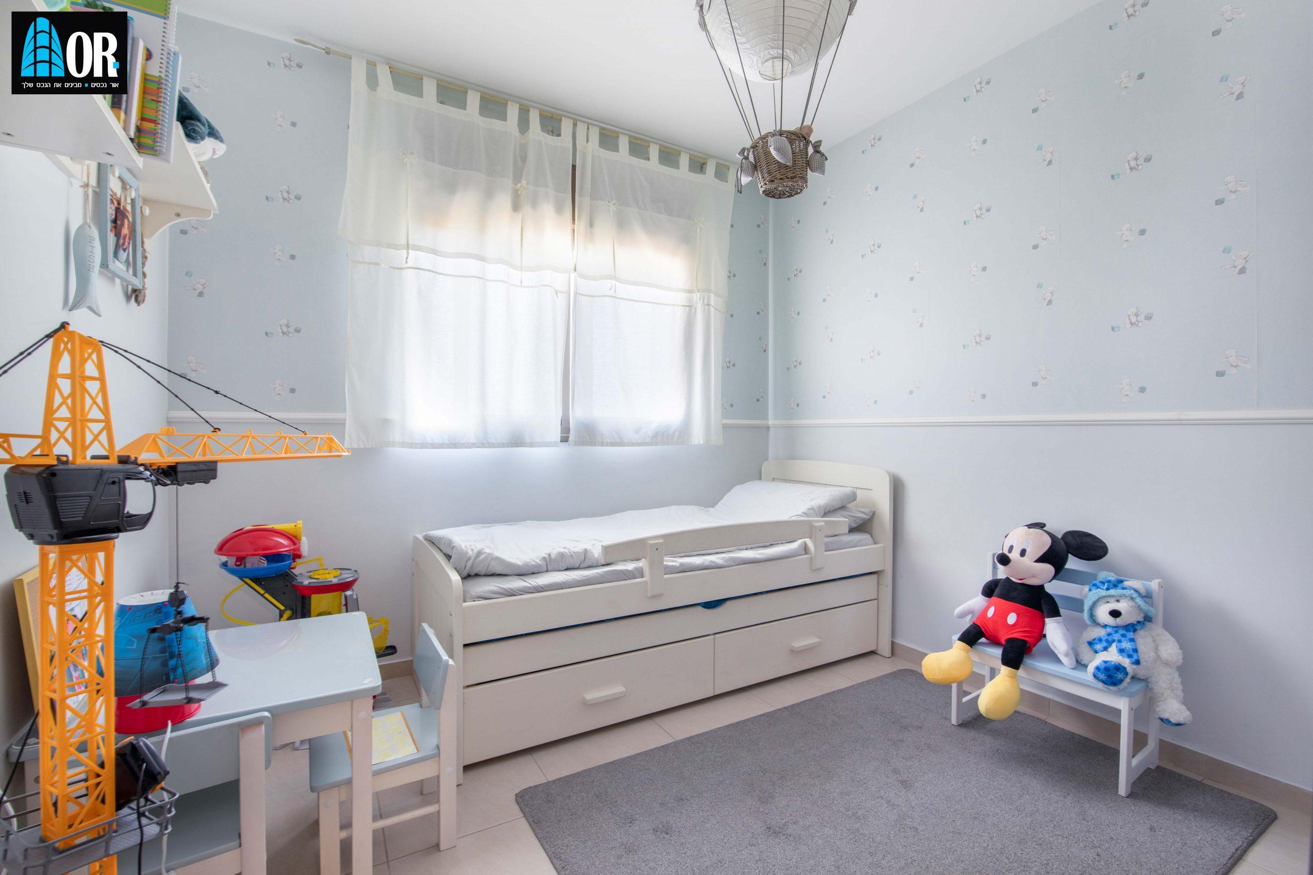 חדר ילדים דירה 4 חדרים שכונה תלמי מנשה